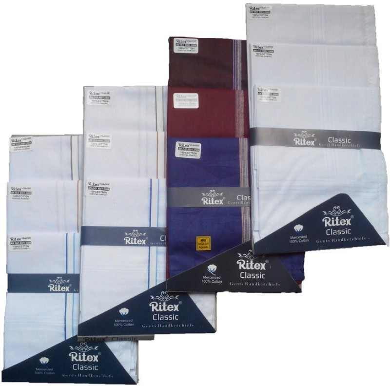 Ritex Classic-6wb-3ww-3db Handkerchief(Pack of 12)