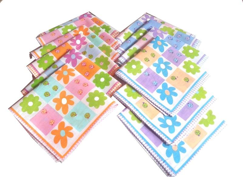 SaifeeSons Blossom Flowers Handkerchief(Pack of 12)