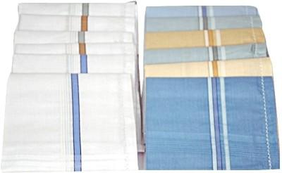 Homeshopeez WHT-MULT-6-6 Handkerchief