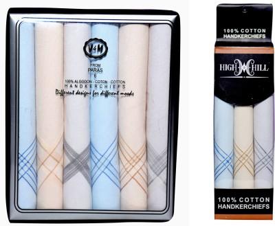 Paras Men,s 100 % Natural Superfine Cotton Hanky Handkerchief