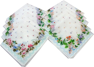 SaifeeSons Monsoon Blossoms Handkerchief