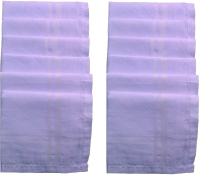 Supriya Plain White Men,s Cotton Handkerchief