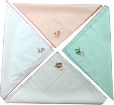 Blacksmith 100% Embroidered Cotton Ladies Handkerchief in 4 Colors Handkerchief