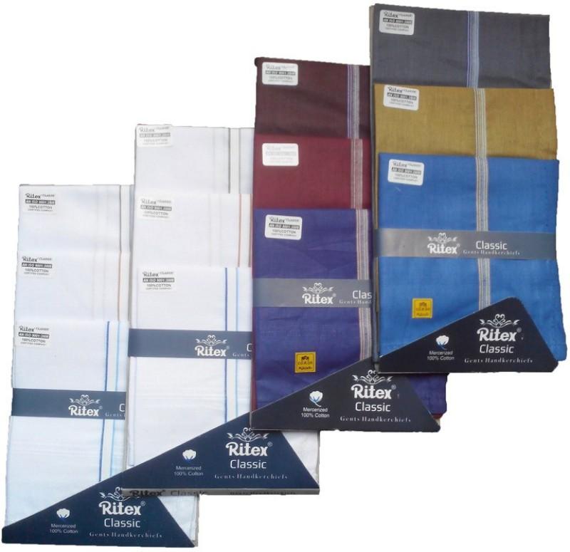 Ritex Classic-6wb-6db Handkerchief(Pack of 12)
