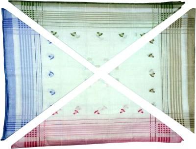 Shopmania Line Border cotton Hanky for girl's Handkerchief