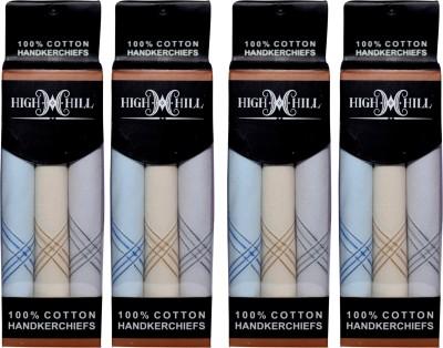 HighHill Men's 100 % Natural Superfine Cotton Hanky Handkerchief