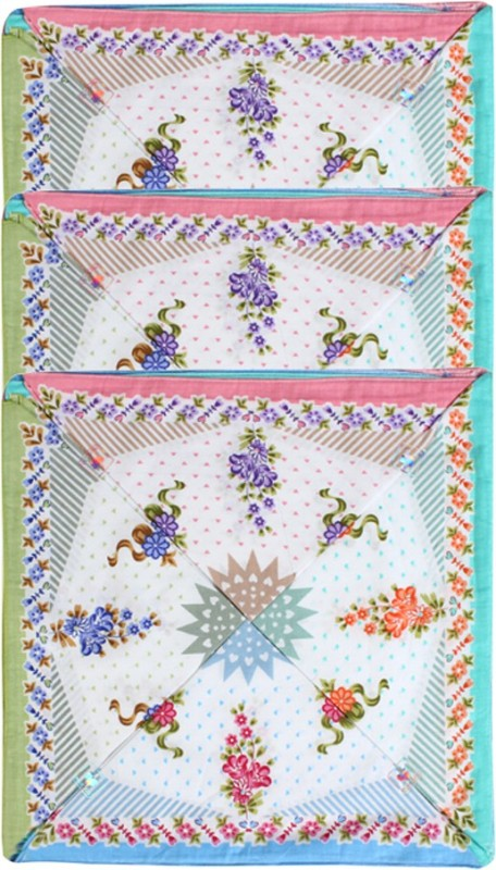 Saffron Designs Hanky016 Handkerchief(Pack of 12)
