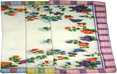Shopmania Flower designe cotton Hanky for girl's Handkerchief
