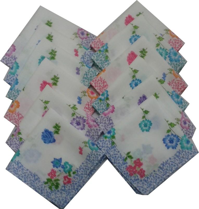 SaifeeSons Floral Flowers Handkerchief(Pack of 12)