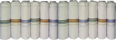 Supriya White Men's Cotton 45x45Cm Pack of 12 Handkerchief