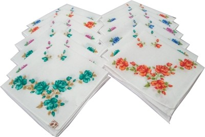 SaifeeSons Assorted Flowers Handkerchief