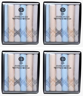 Paras V&M(Q. No.300DD)-Men,s 100 % Natural Premium Cotton Hanky Handkerchief