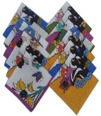 SaifeeSons Kids Animals Cartoon Characters Handkerchief