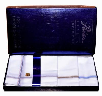 Paras Italia(3500)-Men,s 100 % Natural Superfine Cotton Hanky Handkerchief