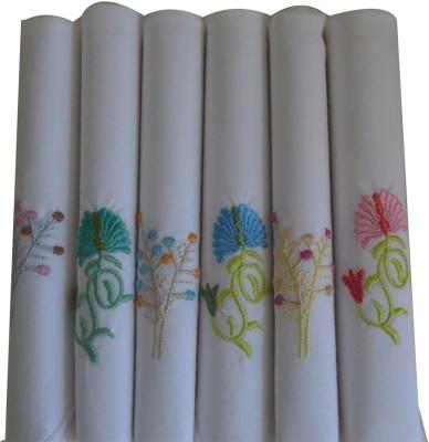 Crossline Plain With Border Handkerchief