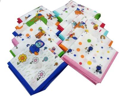 SaifeeSons Cartoon Characters Handkerchief(Pack of 24)