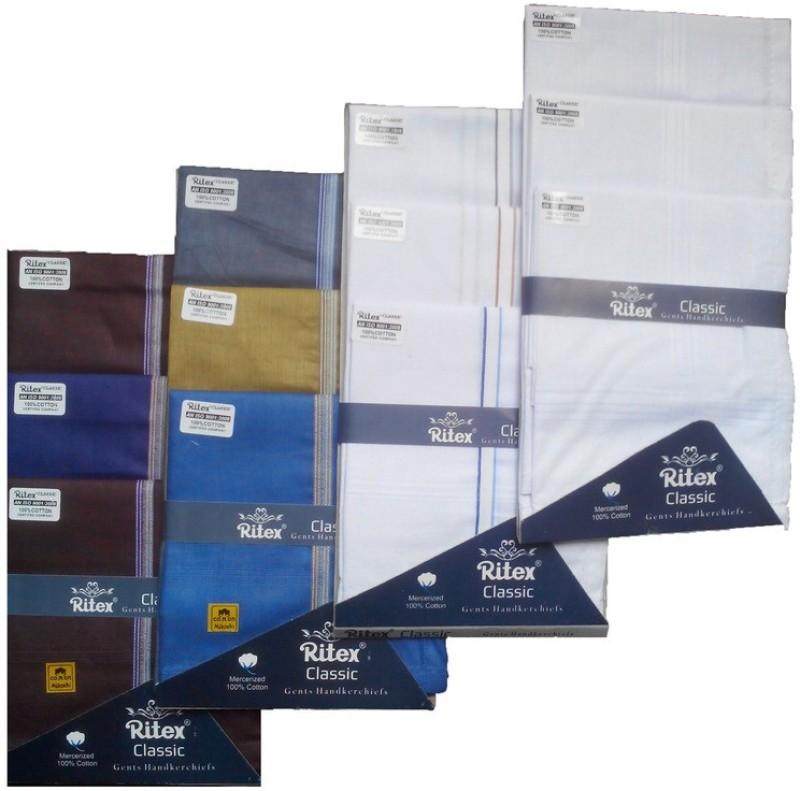 Ritex Classic-6db-3wb-3ww Handkerchief(Pack of 12)