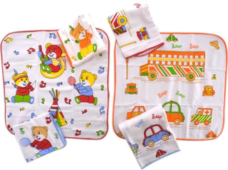 Mee Mee Wash Cloth Handkerchief(Pack of 6)