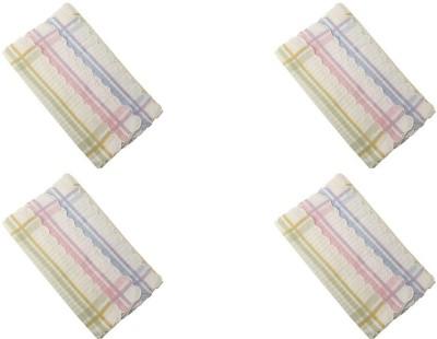 Gumber White Checked Handkerchief