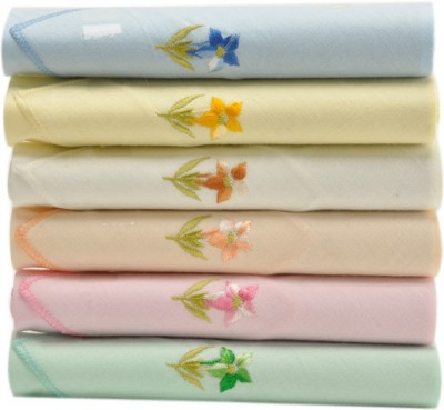 Civil Outfitters Floral Embroidery - 6pc pack Handkerchief