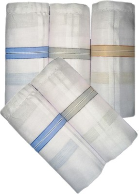 Abboniss White/Border Handkerchief