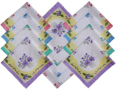 Globalgifts Premium Cotton Hanky Set Of 24 Pieces Handkerchief