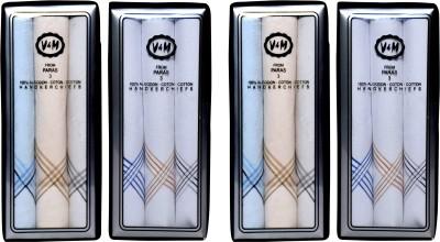 Paras V&M(Q. No.600)-Men,s 100 % Natural Premium Cotton Hanky Handkerchief