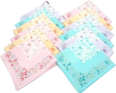 SaifeeSons Monsoon Flowers Handkerchief