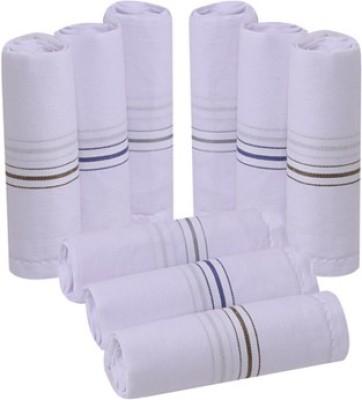 Smart Zone White Cotton Men's Handkerchief