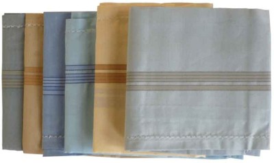 Sondagar Arts Mens Handkerchief Set of 6 Handkerchief