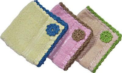 Fihana Multicolor Crochet For Women - Pack Of 3 Handkerchief