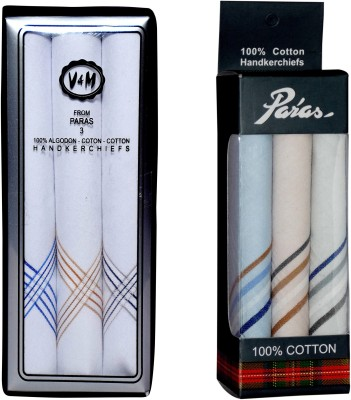 Paras (Q.No.VM600-999)-Men,s 100 % Natural Cotton Hanky Handkerchief