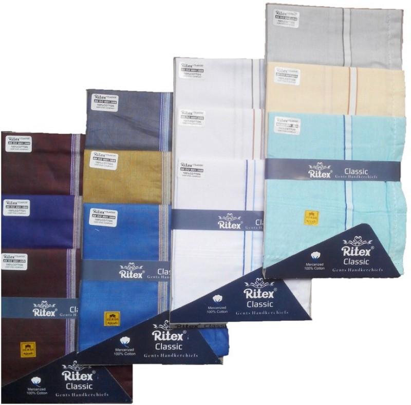 Ritex Classic-6db-3wb-3lb Handkerchief(Pack of 12)