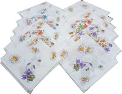 SaifeeSons Seasonal Flowers Handkerchief