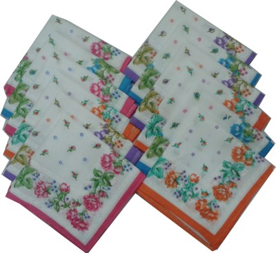 SaifeeSons Exotic Flowers Handkerchief