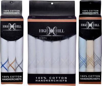 HighHill (Q.No. 5000-500)-Men's 100 % Natural Superfine Cotton Hanky Handkerchief