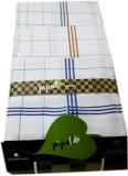 Pipal White Satin Checks Handkerchief (P...