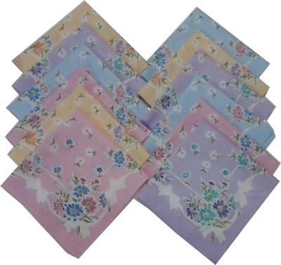 SaifeeSons Tropical Flowers Handkerchief