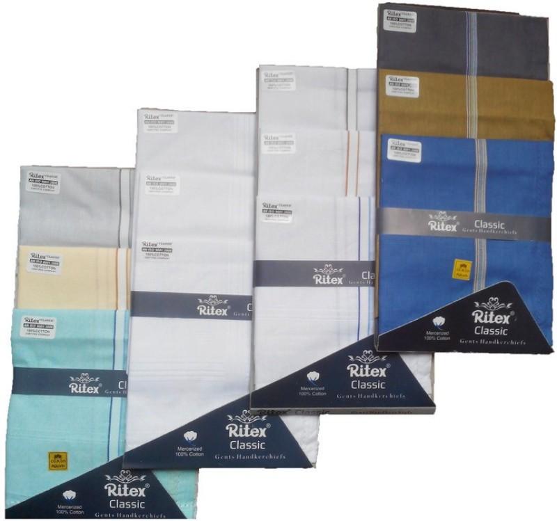 Ritex Classic-Lb-Wb-Ww-Db Handkerchief(Pack of 12)
