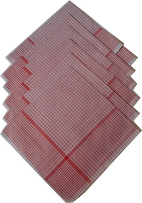 SaifeeSons Extra Large Red Checks Design Handkerchief