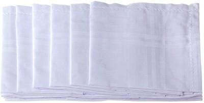 Darbar Handloom White white Handkerchief