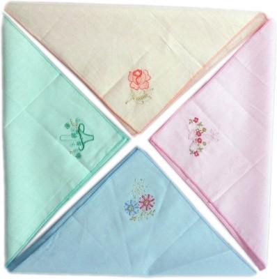 Blacksmith 100% Embroidered Cotton Ladies Handkerchief in 4 Colors Handkerchief