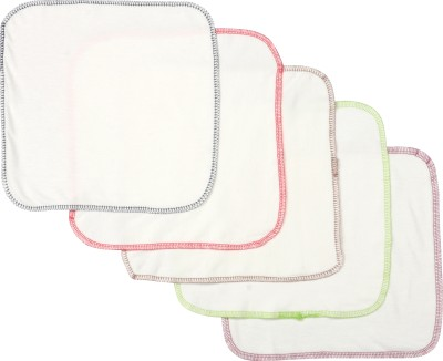 Pebbles Hankies Set of 5 - Multicolor Border Handkerchief