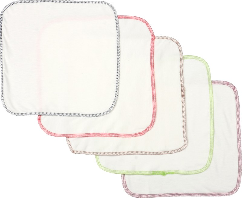 Pebbles Hankies Set of 5 - Multicolor Border Handkerchief(Pack of 5)