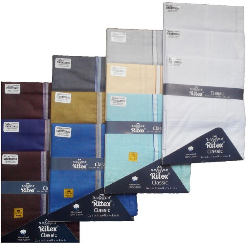 Ritex Classic-6db-3ww-3lb Handkerchief(Pack of 12)