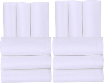 Smart Zone Pure White Men's Rich Cotton Handkerchief