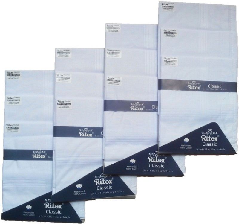 Ritex Classic-Ww Handkerchief(Pack of 12)