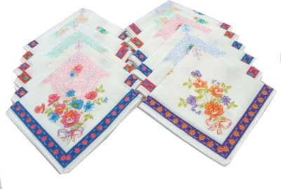 SaifeeSons Flowers & Leafs Design Handkerchief