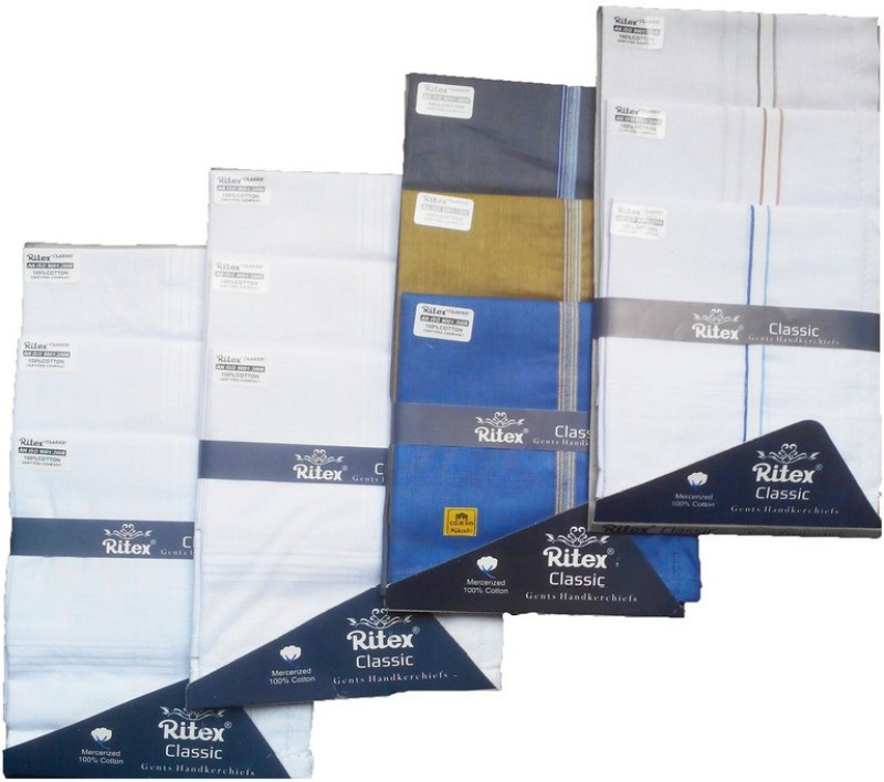 Ritex Classic-6ww-3wb-3db Handkerchief(Pack of 12)
