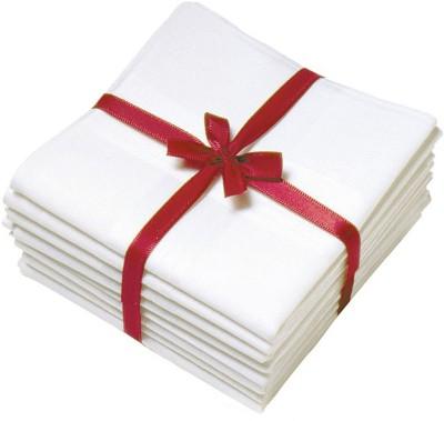 Maccaino Exquisite Pure White 100% Cotton Gift Pack Handkerchief